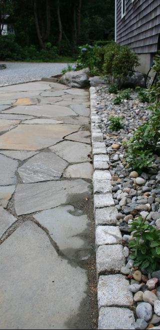 Cobblestone Border With Drainage